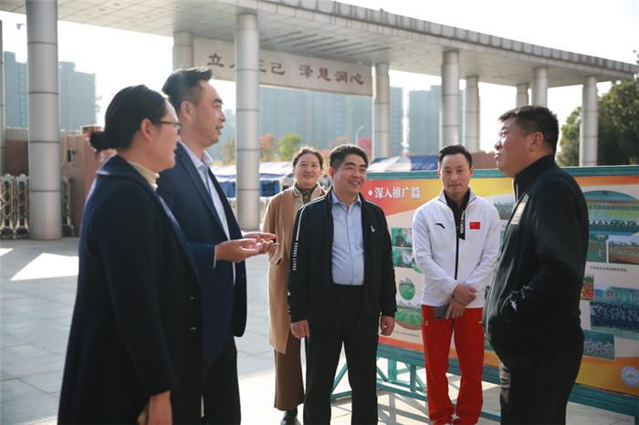 省、市体育局领导来洪泽湖实验小学调研青少年体育工作